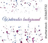watercolor background with blue ... | Shutterstock .eps vector #215665732