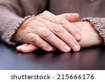 picture of a wrinkled elderly... | Shutterstock . vector #215666176