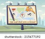 we will find you a home. vector ... | Shutterstock .eps vector #215677192