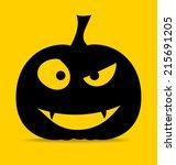 happy halloween design... | Shutterstock .eps vector #215691205
