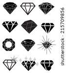 diamond gem icons | Shutterstock .eps vector #215709856