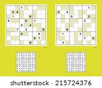 symmetrical sudoku with even... | Shutterstock .eps vector #215724376