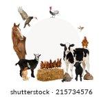 Group of farm animals...