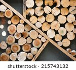 cutting wood is arrange to be... | Shutterstock . vector #215743132