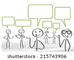 a group of lively discussion | Shutterstock .eps vector #215743906