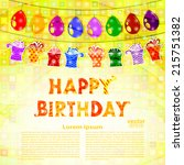 birthday greeting with a... | Shutterstock .eps vector #215751382