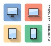 flat device icons. vector... | Shutterstock .eps vector #215752822