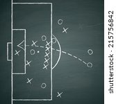 image of a soccer tactic on... | Shutterstock .eps vector #215756842