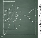 image of a soccer tactic on... | Shutterstock .eps vector #215756905