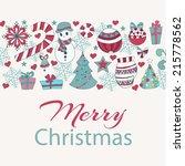 christmas card vector   Shutterstock .eps vector #215778562