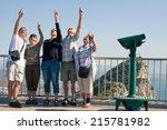 portrait of happy excited... | Shutterstock . vector #215781982