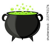 black cauldron witches potion... | Shutterstock . vector #215792176