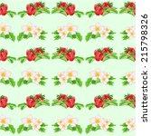 seamless texture strawberries... | Shutterstock .eps vector #215798326