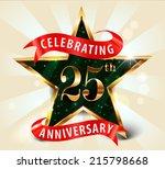 25 year anniversary celebration ... | Shutterstock .eps vector #215798668