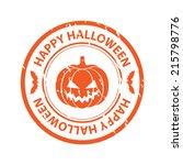 halloween rubber stamp | Shutterstock .eps vector #215798776