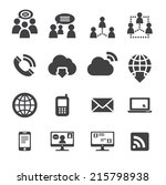 communication icon | Shutterstock .eps vector #215798938