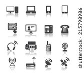 communication device icons | Shutterstock .eps vector #215798986