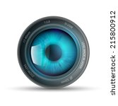 eye inside the camera lens | Shutterstock .eps vector #215800912