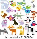 vector set of new geo animals 23 | Shutterstock .eps vector #21580804