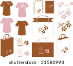 there is designer idea of bags... | Shutterstock .eps vector #21580993