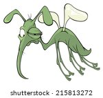 a green mosquito insect cartoon   Shutterstock . vector #215813272