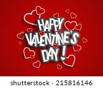 happy valentine's day greeting... | Shutterstock .eps vector #215816146