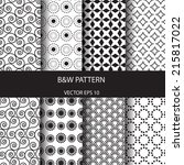 vector seamless patterns set.... | Shutterstock .eps vector #215817022
