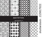 vector seamless patterns set.... | Shutterstock .eps vector #215817022