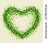 illustration of the heart made... | Shutterstock .eps vector #215819626