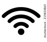 wi fi icon | Shutterstock .eps vector #215823865