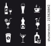 drink icons | Shutterstock .eps vector #215828842