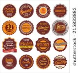 premium quality retro labels | Shutterstock .eps vector #215833882