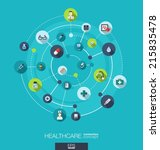 healthcare connection concept.... | Shutterstock .eps vector #215835478