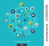 technology connection concept.... | Shutterstock .eps vector #215835496