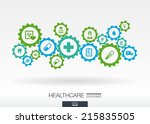 healthcare mechanism concept.... | Shutterstock .eps vector #215835505