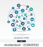 business connection concept.... | Shutterstock .eps vector #215835532