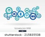 technology mechanism concept.... | Shutterstock .eps vector #215835538