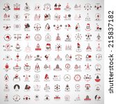christmas icons and elements... | Shutterstock .eps vector #215837182