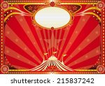horizontal red circus... | Shutterstock .eps vector #215837242