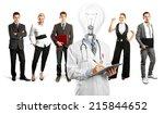 idea concept. lamp head doctor... | Shutterstock . vector #215844652