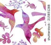 vector floral watercolor... | Shutterstock .eps vector #215851288