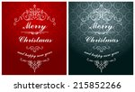 christmas typographic label for ... | Shutterstock .eps vector #215852266