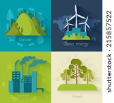 flat design of ecology ... | Shutterstock .eps vector #215857522