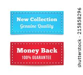 new collection and money back... | Shutterstock .eps vector #215858296