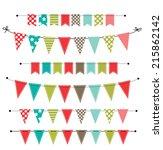 christmas banner  bunting or... | Shutterstock . vector #215862142