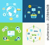 sharing economy and... | Shutterstock .eps vector #215864638