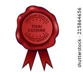premium quality thai cuisine... | Shutterstock .eps vector #215864656