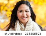 young asian woman in mid 20s... | Shutterstock . vector #215865526