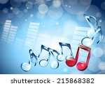 vector illustration 3d musical... | Shutterstock .eps vector #215868382