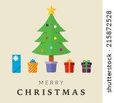 christmas tree | Shutterstock .eps vector #215872528
